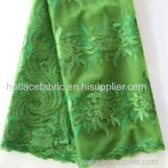 Soft material tulle mesh embroidered lace fabric african french lace fabric with colorful rhinestones for ladies suits