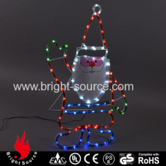 Decorative led rope light with Santa figure