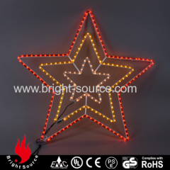 New star shape led rope lights with multi color led