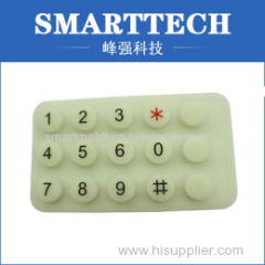 White Silicone Calculater Cover Molding