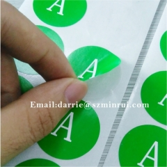 China best self-adhesive destructible label manufacturer custom round 3cm warranty sticker for cellphone repairing
