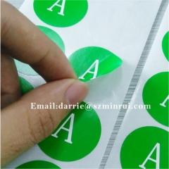 China best self-adhesive destructible label manufacturer custom round 3cm warranty sticker for cellphone repairing