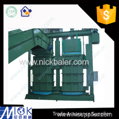 Feed Textile Cloth bagging press with Wiping rag baling machine