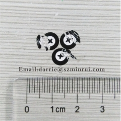 China best self-adhesive destructible label manufacturer custom round 7mm warranty sticker for cellphone repairing