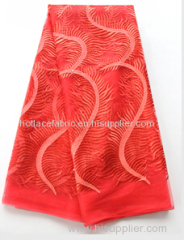 Hot selling tulle lace fabrics elegent tulle net lace for party asoebi style african lace fabrics on sale