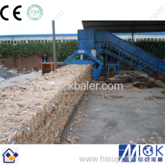 strapping machine with Brown Paper bale press machine