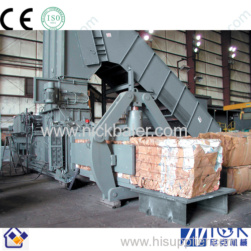 baling press with Brown Paper pp strapping machine