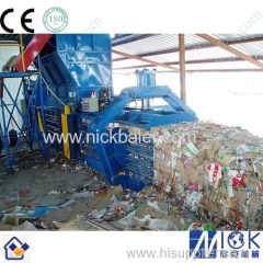 Brown Paper used baler machine with auto tie baler