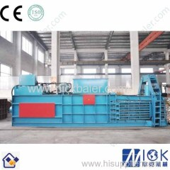 Brown Paper steel wire baler with steel strapping machine