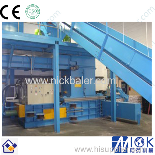 Brown Paper compacting machine with baler compressor