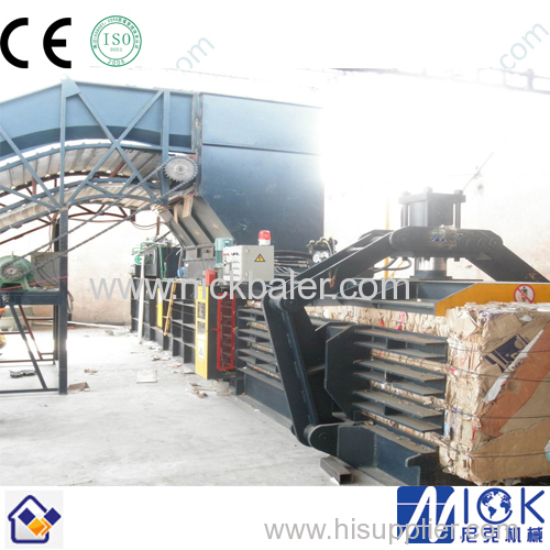 cardboard paper compactor baler with recycling baler