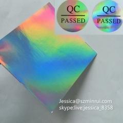 Fast Delivery Hologram Brittle Permanent Adhesive Paper Self Destructive Vinyl Holographic Sticker Paper Sheets