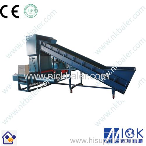 using artificial feeding Wood shaving hydraulic compactor