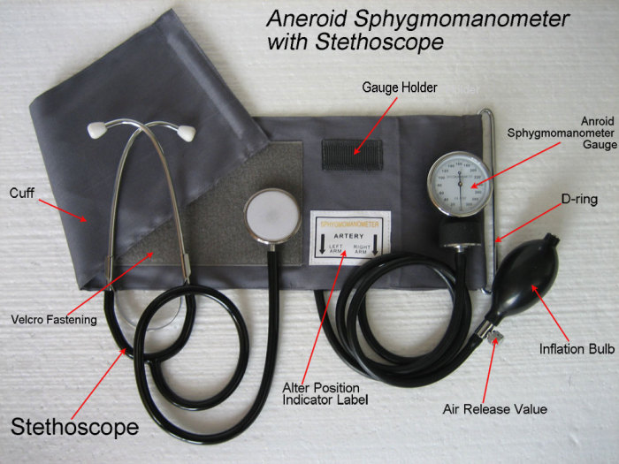 Aneroid Sphygmomanometer With Stethoscope Hsm1314