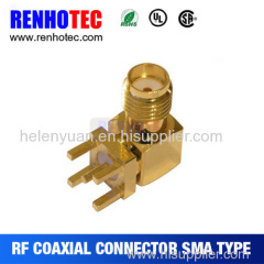 Hot Best high quality Female pcb Right angle sma rf connector