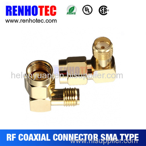 New hot best RP right angle sma plug to jack connector connector for cable
