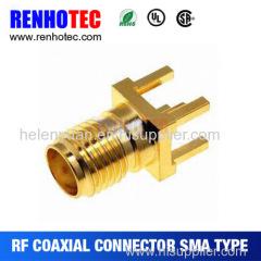 Factory Dosin Straight sma rf connector female pcb mount