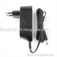 EU wall mount 12v 1a ac dc adpater 12w series energy efficiency VI adaptor
