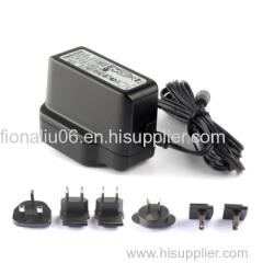 EU US UK AU KC PSE ac plug interchangeable power adapter 5v 2v 12v 1a universal power supply