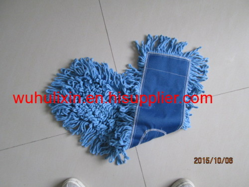 Double side clean cotton flat mop with handle