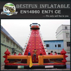 Giant inflatable mobile climbing wall