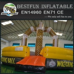 Inflatable sport werecking ball arena