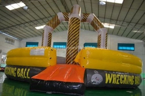 Popular inflatable gladiator joust &wrecking ball games