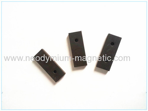 flexible rubber block magnet sheet strip with hole
