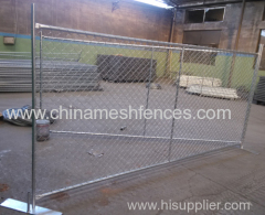 6*12 feet hot-dipped galvanized temporary chain link fence