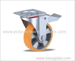 China supplier locking rubber caster silicone wheel