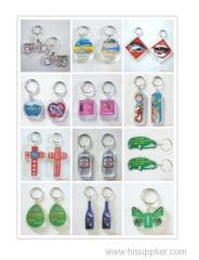 Cheap Customize promotion acrylic photo keychain/custom keychain maker/round clear acrylic keychain