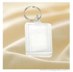 promotional clear custom blank souvenir plastic photo frame key chain picture insert logo plastic keyring acrylic