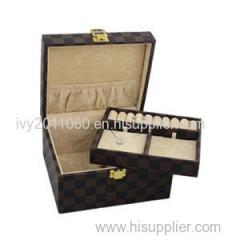 Double Layers Leather Jewelry Box
