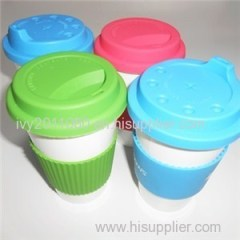 Rubber Cap Procelain Coffee Mugs