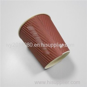 Brown Ripple Paper Cups