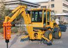 Small Hydraulic Backhoe Loader With Hammer Double Pumps Confluence 50KW Power WZ25-20