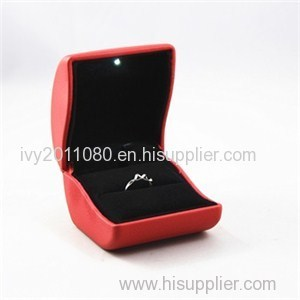 Lighted Leather Jewelry Box