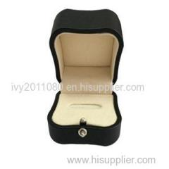 Button Seal Leather Ring Jewelry Box
