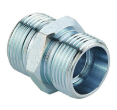 Hydraulic adapter straight fitting equal one