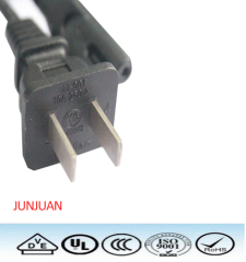 CCC Approval Chinese 2Pin Plug Power Cord