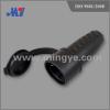Black rubber plug