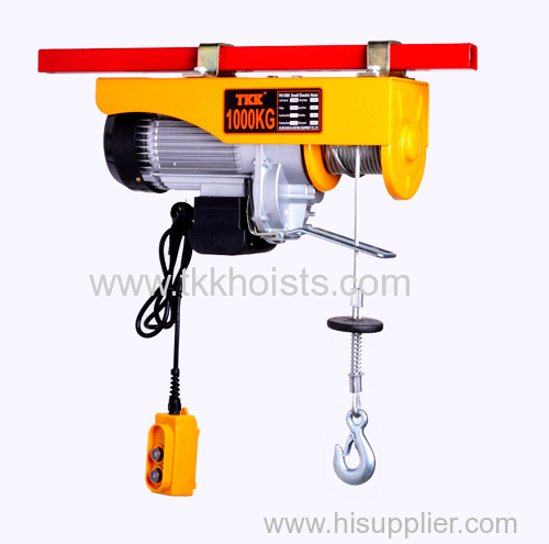 2200 lb Capacity Mini Electric Hoist Winch With Upper Limit Switch