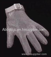 cut resistant gloves/industry gloves/Chainmail mesh gloves