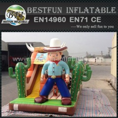 West cowboy inflatable obstacle course