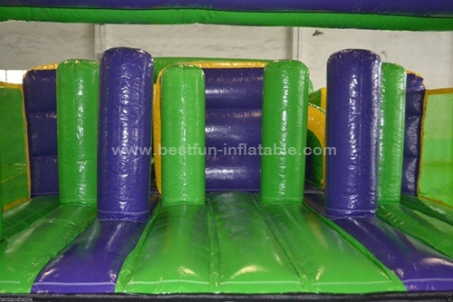 High quality commercial Element Radical Run inflatable Obstacle Course