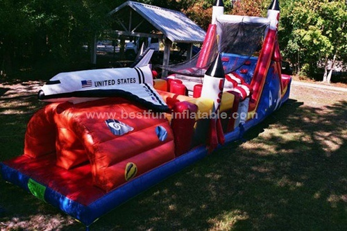 Spaceship Theme Inflatable Obstacle Courses