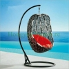 Rattan hanging chair wicker hammock for outdoor use