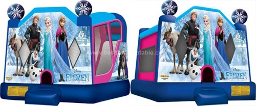 China new design cartoon frozen inflatable cheap bounce