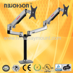 Dual arm LCD Monitor Table Mount for 10