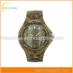China Wholesale Wooden Watch with Big Face
